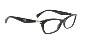 Prada NEW Milano Eyeglasses VPR 15P c. 1AB1O1 in Black 53mm