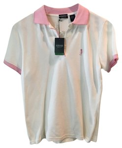 Izod Top white with light pink trim.