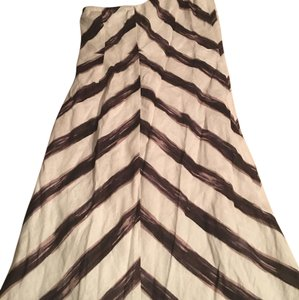 Ann Taylor short dress white/ brown multicolor on Tradesy