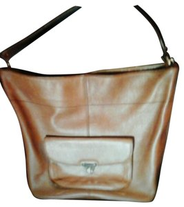 Banana Republic Banana Leather Bucket Genuine Leather Tote in Brown