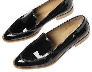 Everlane Patent Black Leather Loafer Dark Brown Flats