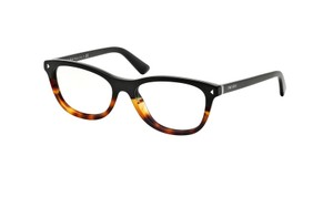 Prada NEW Journal Eyeglasses VPR 05R c. TKA1O1 in Black & Havana 53mm