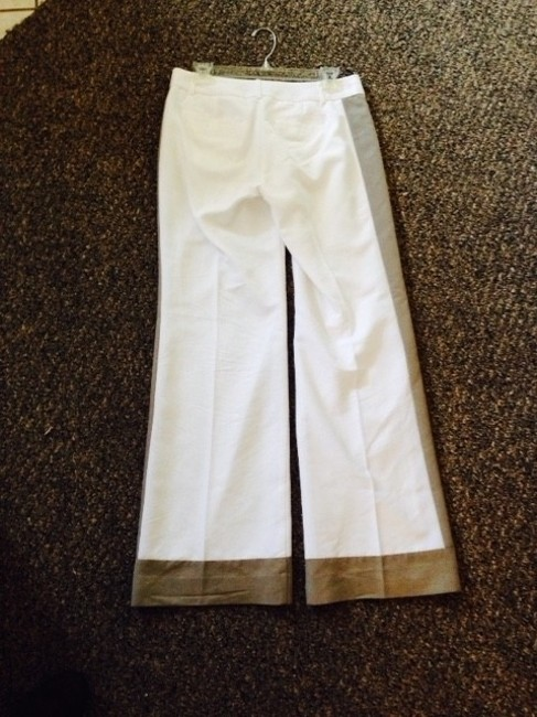 Banana Republic Wide Leg Pants White and Taupe
