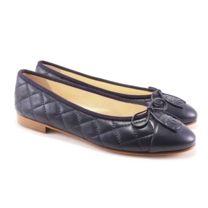 Chanel Ballet Ballerina Classic Quilted Navy Flats