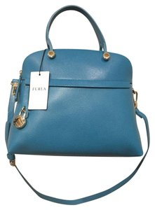 Furla Structured Made In Italy Exquisite Top Handled Trapeze-shaped Satchel