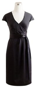 J.Crew Black Cecelia Shift Dress In Tricotine Dress