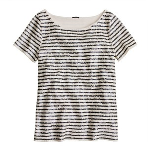 J.Crew Vintage Top White, Black, Champagne