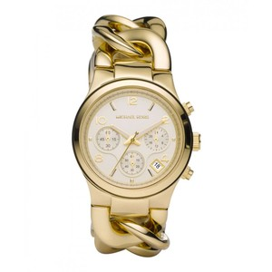 Michael Kors Michael Kors Women's Gold-Tone Runway Midsized Watch MK3131