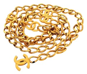 Chanel 98P CC Everwhere Gold Chain Belt 2way Necklace 216164