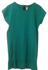 Zara short dress Green Basic T-shirt Cotton on Tradesy
