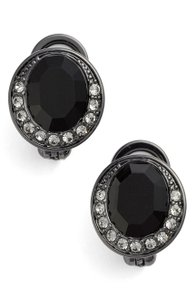 Givenchy Swarovski Element Women's Button Clip Earrings