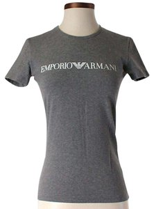 Emporio Armani Signature Crew Neck T Shirt Grey