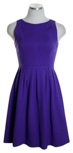 Theory short dress Purple Sleeveless Ponte Knit Stretchy Fit & Flare on Tradesy