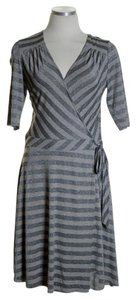 Bailey 44 short dress Gray/Brown Knit Print Stretchy Faux Wrap on Tradesy