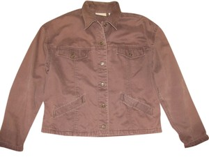 Liz Claiborne Brown Womens Jean Jacket