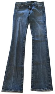 Guess Stretchy Low Rise Straight Leg Jeans-Medium Wash