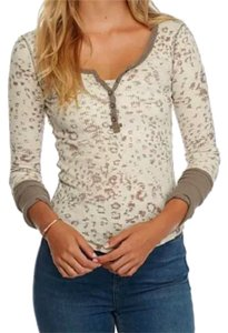 Free People Comfy T Shirt NWT Beige