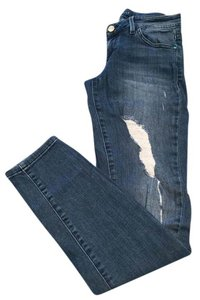 Guess Distressed Skinny Stretchy Skinny Jeans-Distressed