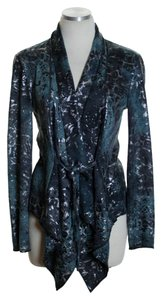 Alberto Makali Long Sleeve Knit Print Cardigan