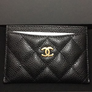 Chanel Brand new/never used Black Caviar Leather Cardholder