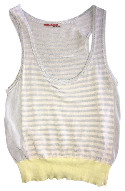 Item - Silver and Yellow Tank Top/Cami Size 4 (S)
