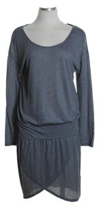 Joie short dress Gray Long Sleeve Blouson Knit Stretchy on Tradesy