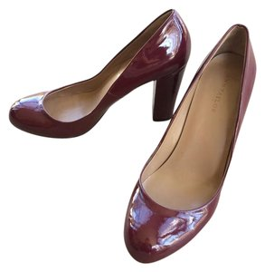 Ann Taylor Patent Red High Heel Wine Pumps