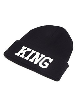 Other King Black Thick Slouchy Knit Beanie Cap Hat Acrylic One Size
