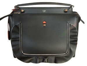 Fendi Satchel in Black and Orange