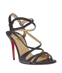 Christian Louboutin Leather Strappy Grey Sandals