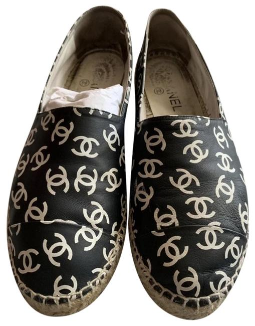 Item - White Black Espadrille Flats Size EU 39 (Approx. US 9) Regular (M, B)