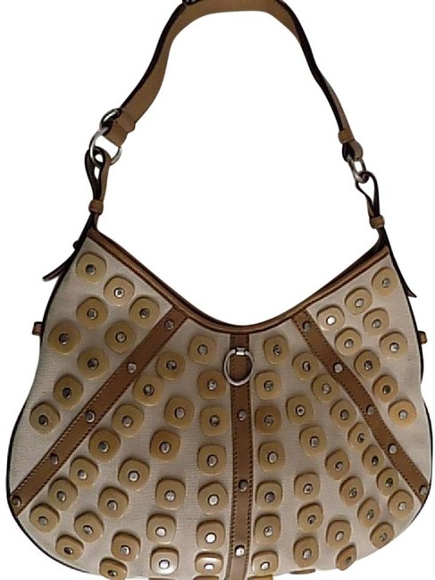 Item - Shoulder Yves Canvas/Leather Cream/Tan Canvas/Leather Hobo Bag