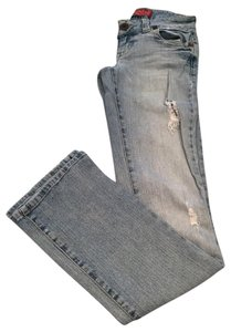 Guess Distressed Stretch Straight Leg Jeans-Distressed