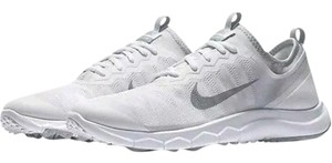 Nike Spikeless Golf Sneakers Fi Bermuda Womens White Gray Athletic