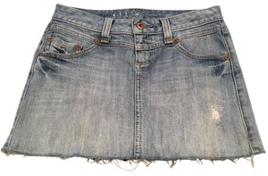 Guess Mini Stretch Distressed Mini Skirt Light Wash