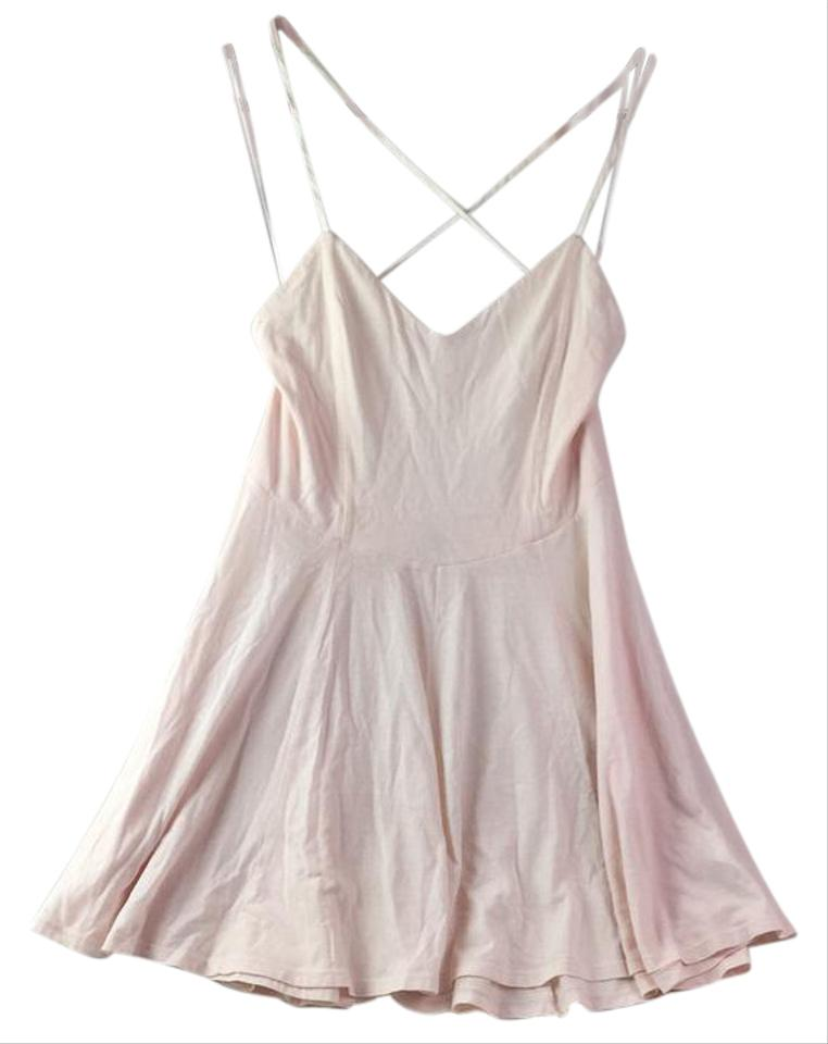7c34c2c62ce Urban Outfitters Pink Blush Ballet Cross Skater Short Casual Dress ...