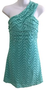 Tracy Negoshian short dress blue Lace Spring Open on Tradesy