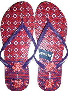 Old Navy Red purple white Sandals