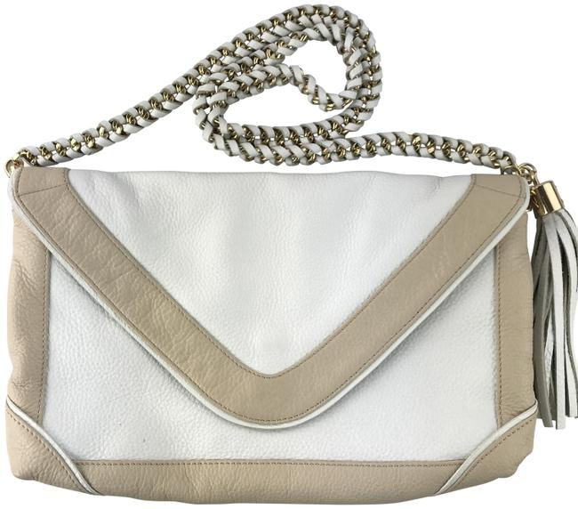 Item - White And Beige Leather Cross Body Bag