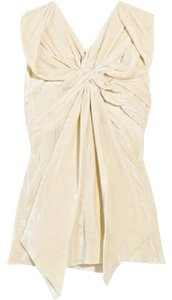 Marc Jacobs Velvet Silk Chic Ruffle Top Cream