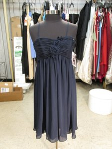 Watters Indigo Chiffon 883 Special Occasion-dress-size (W-43) Modern Bridesmaid/Mob Dress Size 8 (M)