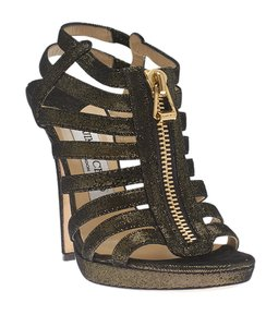 Jimmy Choo & Gold,Black Sandals