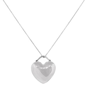 Tiffany & Co. Tiffany & Co. Sterling Silver Puff Heart Pendant Necklace