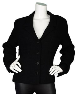 Chanel Boucle Jacket Black Blazer