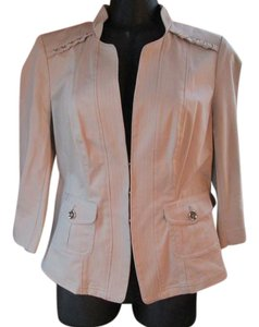 White House | Black Market Khaki Stretch Formal Spring Beige Blazer