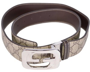 Gucci New Gucci Men's 245861 GG Supreme Coated Canvas Reversible GG Belt 40