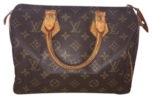 100% Authentic Louis Vuitton Speedy 25 Boston Bag Satchel in brown