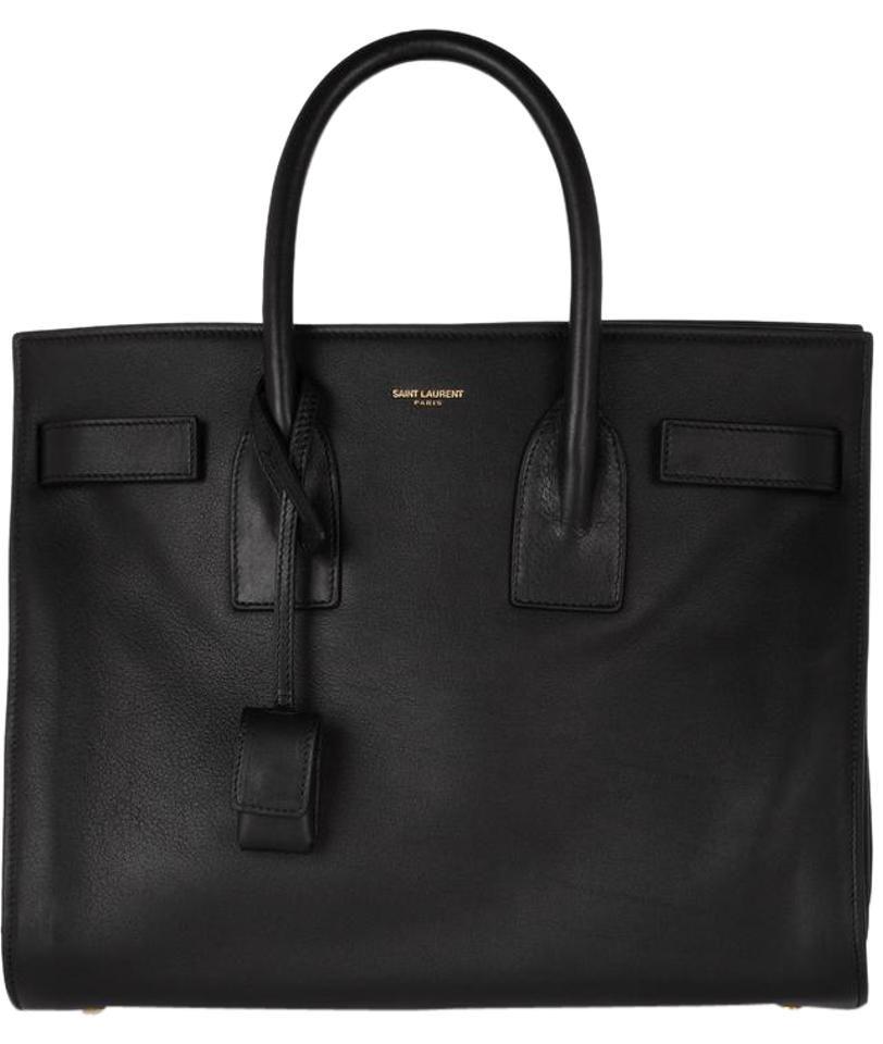 Saint Laurent Sac de Jour Small Black Leather Tote - Tradesy 4a9a3371c0