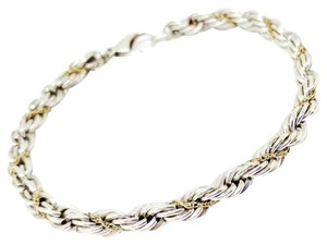 Tiffany & Co. Tiffany & Co. Sterling Silver and 18K Yellow Gold Rope Chain Bracelet