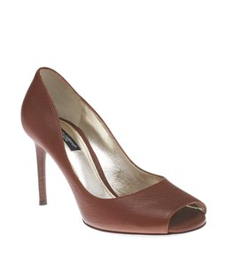 Dolce&Gabbana Leather Brown Pumps